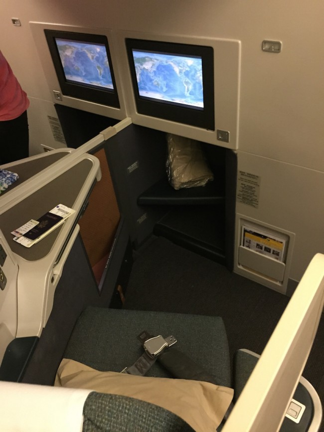 Cathay Pacific Business Class New York to Hong Kong