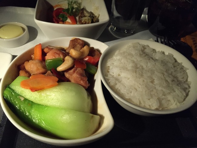 Cathay Pacific Business Class - Kung Po Chicken
