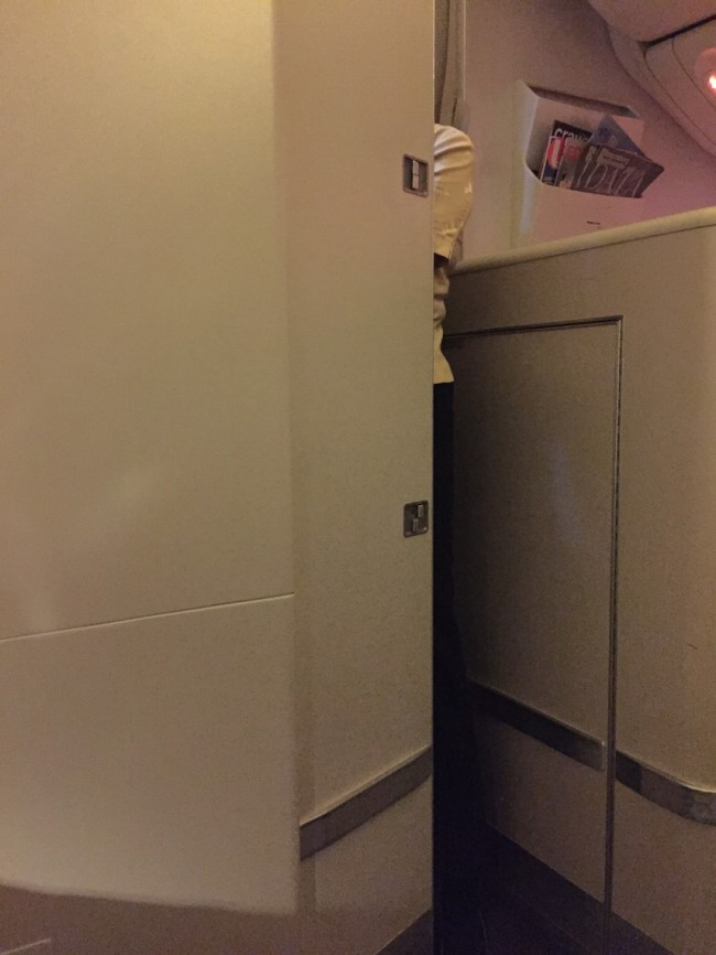 Cathay Pacific Business Class - Closet