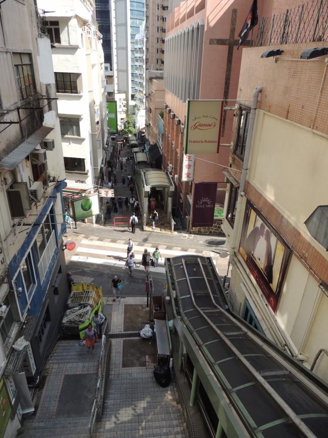 Mid-Level Escalators Hong Kong