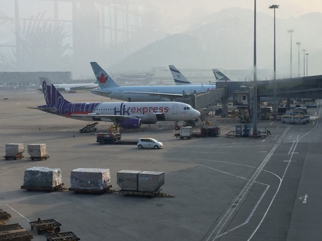 HK Express A320 (along with Air Canada, El Al from Israel, and Cathay Pacific)