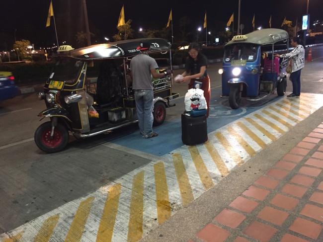 Tuk Tuks outside of Chiang Mai Airport