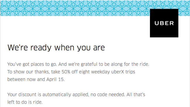 Uber Chicago 50% Off